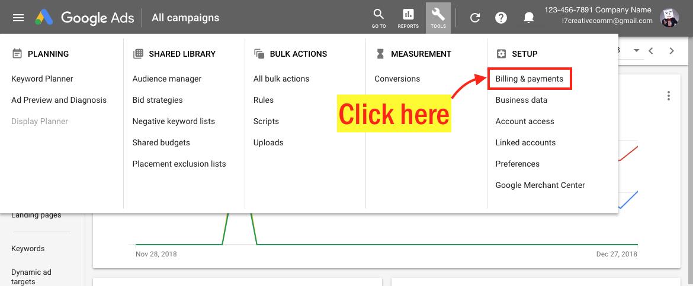 Edit Your Google Ads Payment Info - Step 3 Screenshot